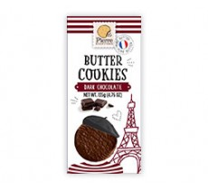sablés pur beurre enrobés chocolat noir