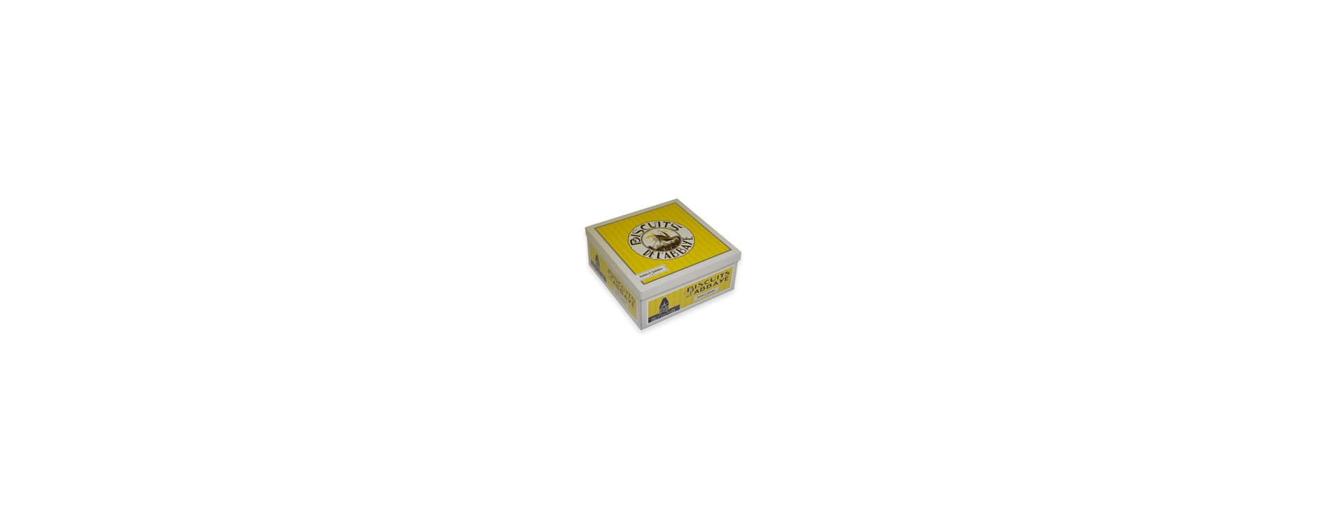 Boîte carrée jaune