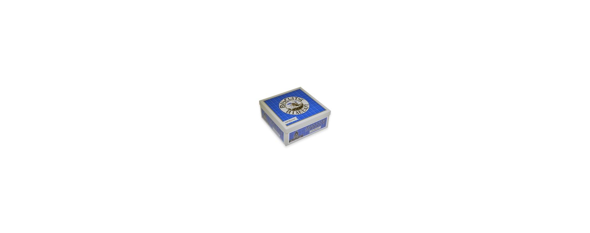 Boîte carrée bleue - Petits Normands Chocolat