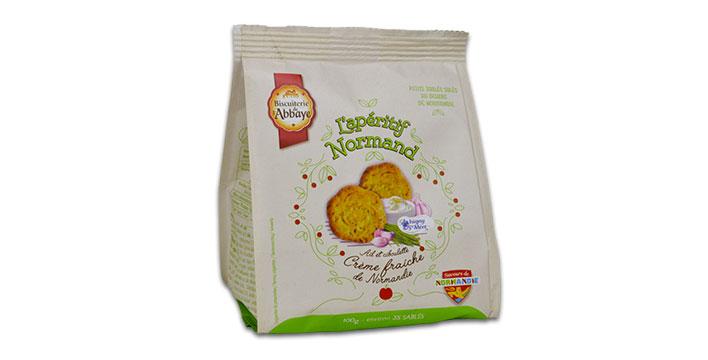 biscuit apéritif crème ail ciboulette