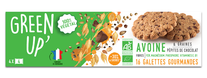 Galette Avoine Graines Chocolat